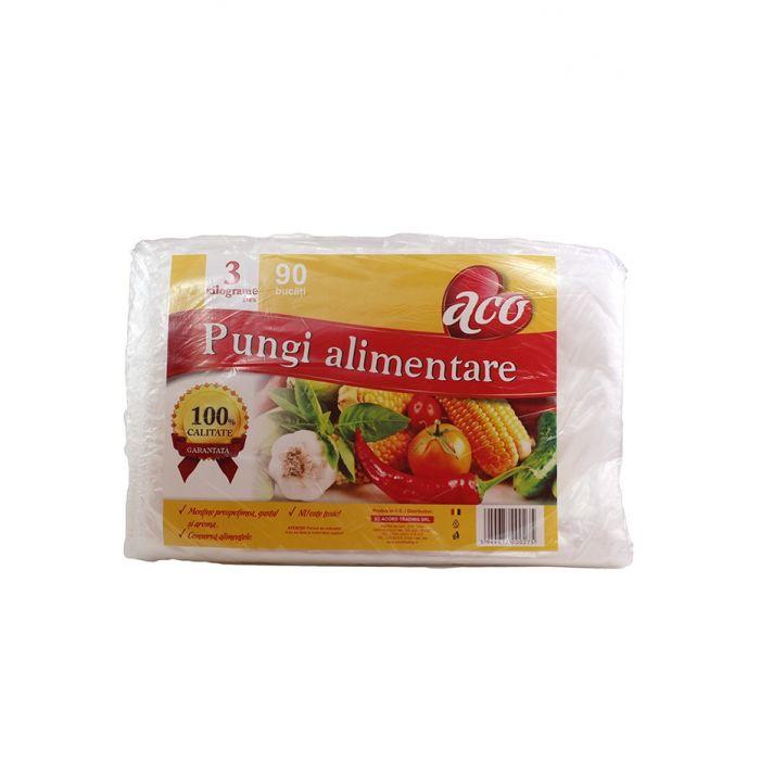 Aco Pungi alimentara incolore 3 kg 90 buc