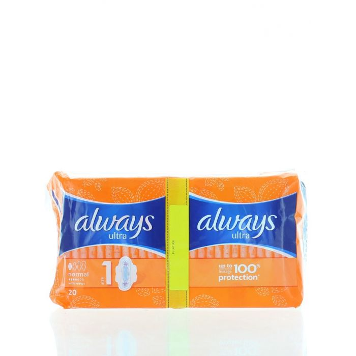 Always Absorbante Duo Pack 20 buc Normal Leakage Protection