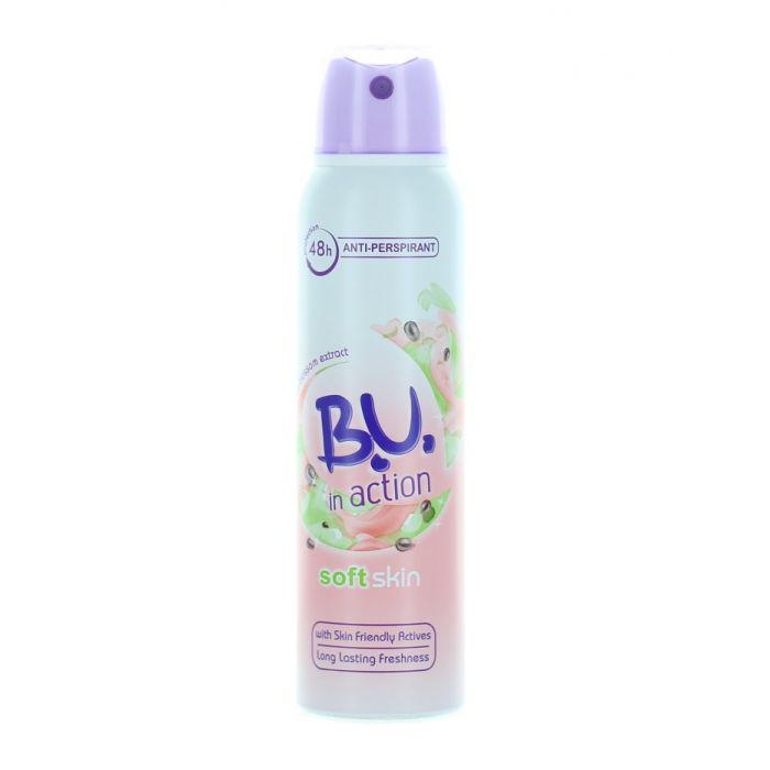 B.U. Spray Deodorant 150 ml Action Soft Skin