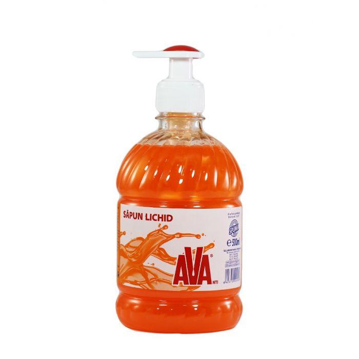 Ava Sapun lichid cu pompa 500 ml Portocaliu