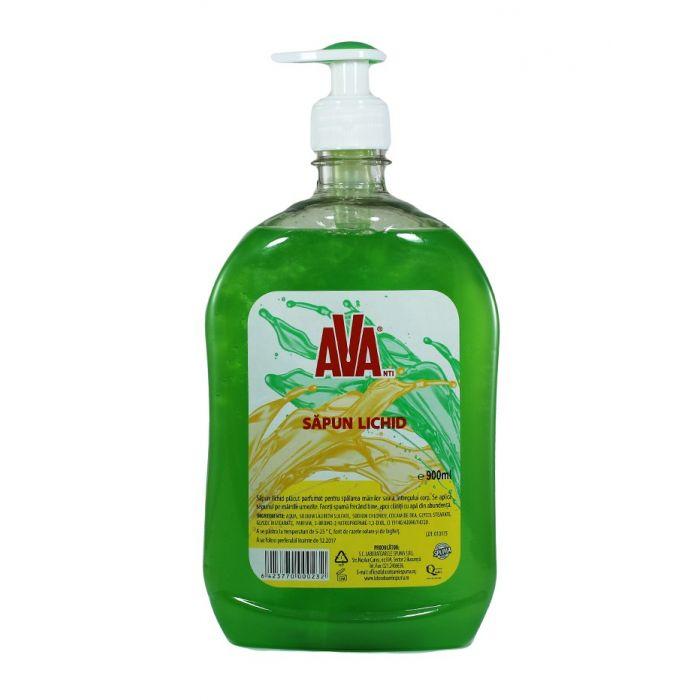 Ava Sapun lichid cu pompa 900 ml Verde