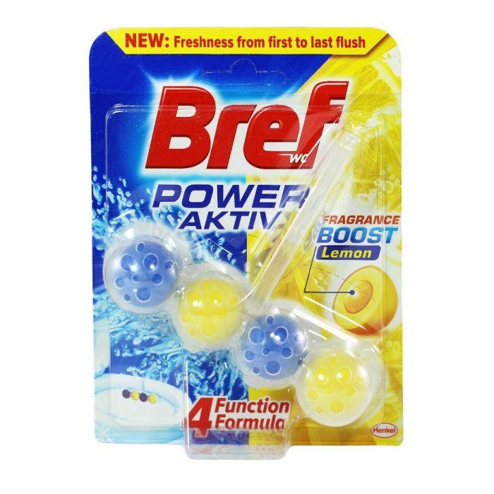Bref Odorizant WC cu bile 50g power Aktiv Lemon