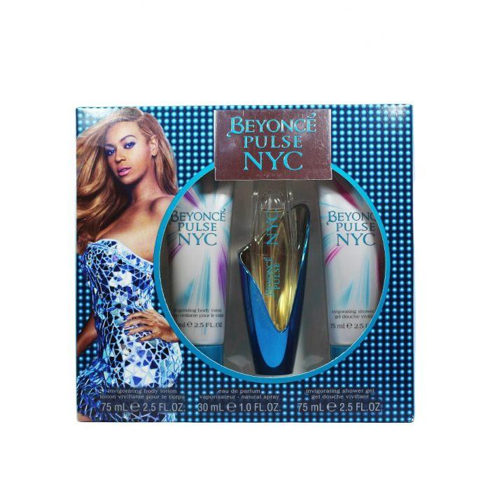 Beyonce Caseta femei:Parfum+Gel de dus+Lotiune de corp 30+75+75 ml Pulse NYC