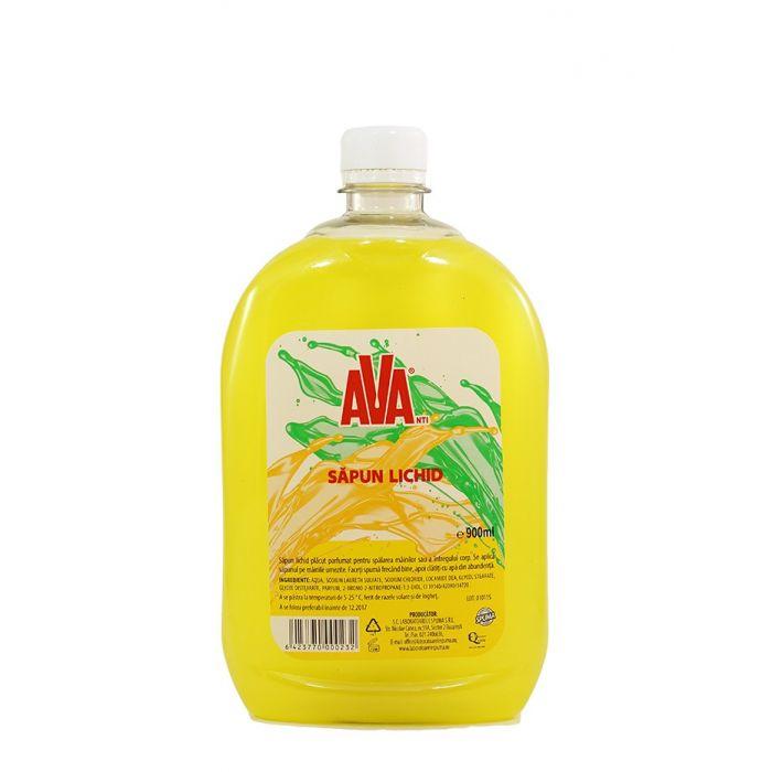 Ava Sapun lichid rezerva 900 ml Galben