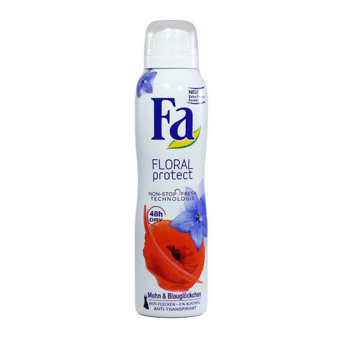 Fa Spray deodorant 150 ml Floral Protect Mohn & Blauglockchen