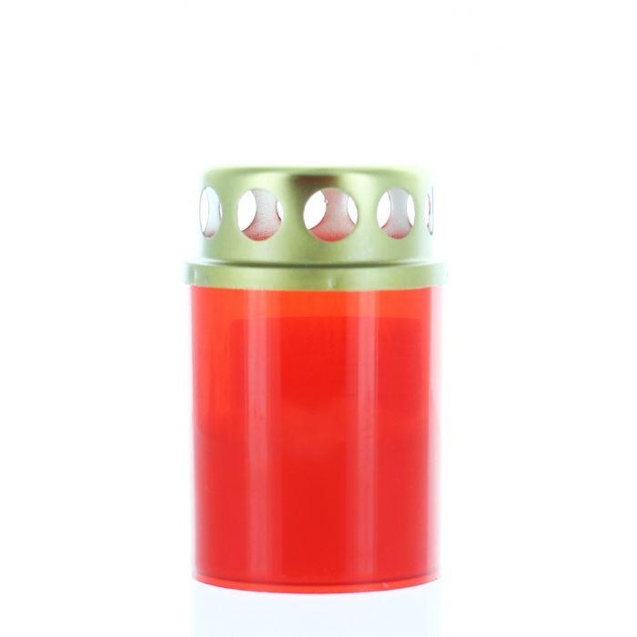 Candela rosie cu capac 12h V1-50T