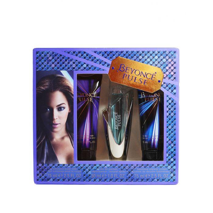 Beyonce Caseta femei:Lotiune de corp+Parfum+Gel de dus 75+30+75 ml Pulse