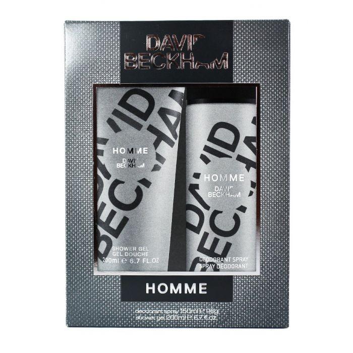 David Beckham Caseta barbati:Spray deodorant+Gel de dus 150+200 ml Homme