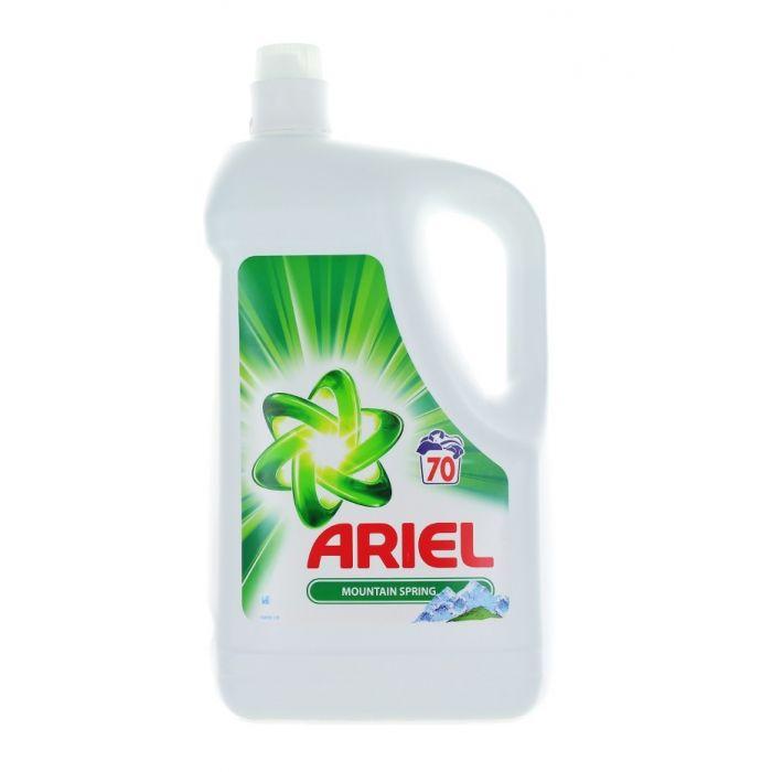 Ariel Detergent lichid 4.55 L 70 spalari Mountain Spring Whites+Colors