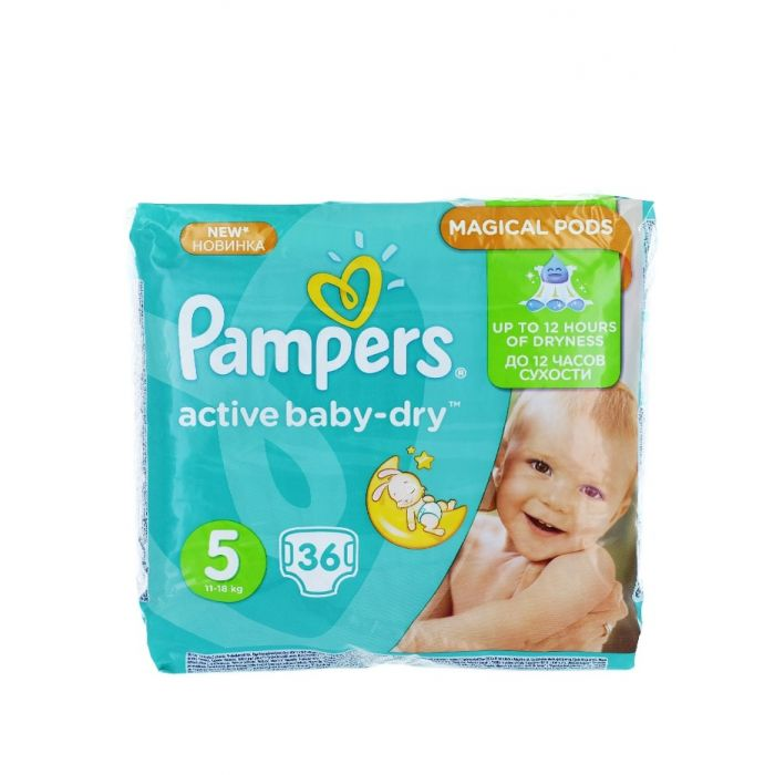 Pampers Active Baby Dry nr.5 Junior 11-18 kg 36 buc