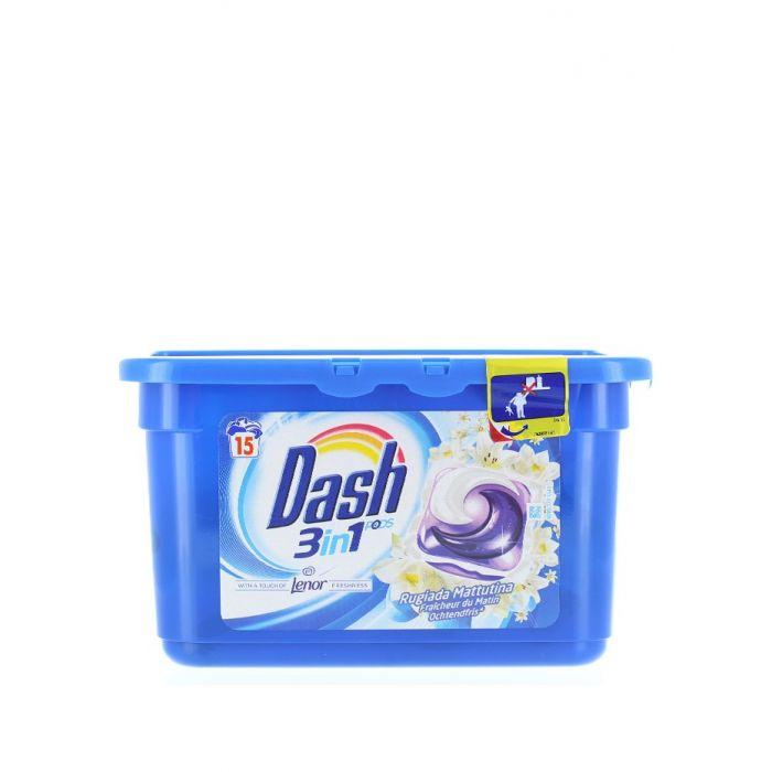 Dash Detergent Capsule 15 buc 3in1 Lenor Fraicheur du Matin