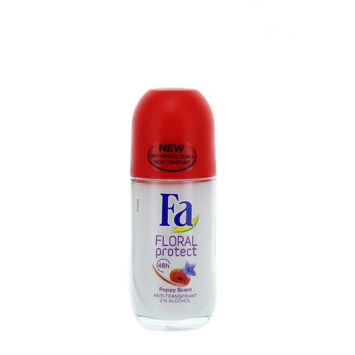 Fa Roll-on femei 50 ml Floral Protect Poppy Scent