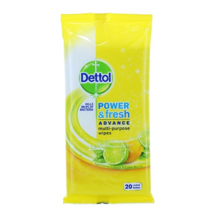 Dettol Servetele umede pt suprafete 20 buc Power&Fresh