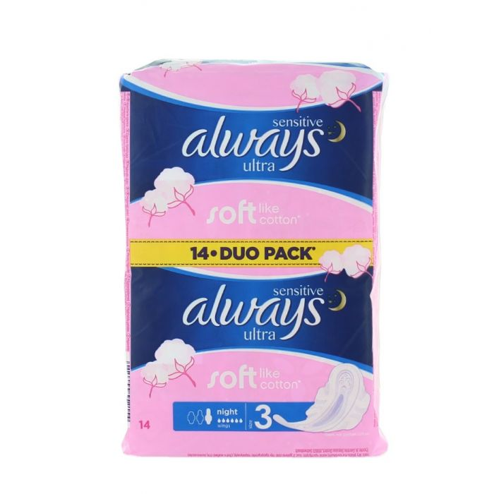 Always Absorbante 14 buc Night Sensitive (exp:24.05.2019)