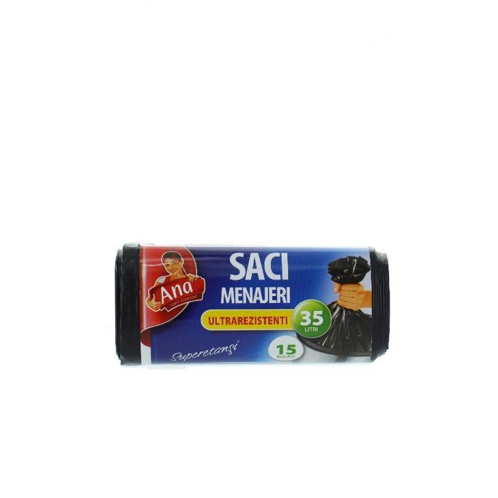 Anna Saci menajeri 35 L 15 buc Ultrarezistent
