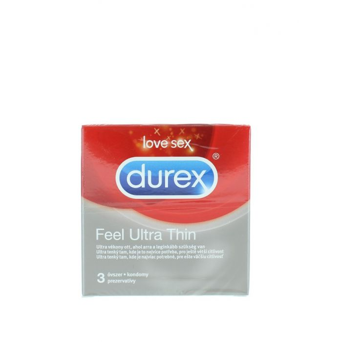 Durex Prezervative 3 buc Feel Ultra Thin