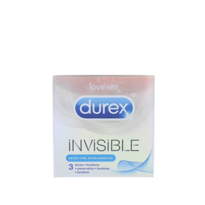Durex Prezervative 3 buc Invisible Extra Sensitive