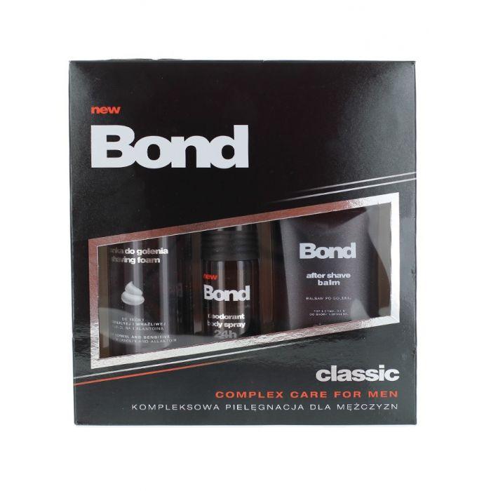 Bond Caseta barbati:Spuma de ras+After shave balsam+Spray deodorant 200+150+50 ml Classic