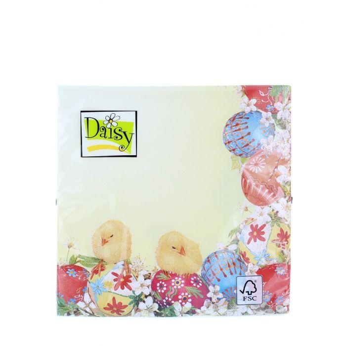 Daisy Servetele de masa 20 buc 3 straturi 33x33 cm Colorate