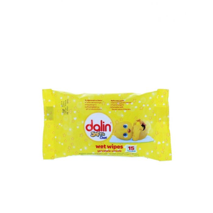 Dalin Servetele umede 15 buc Soft & Clean
