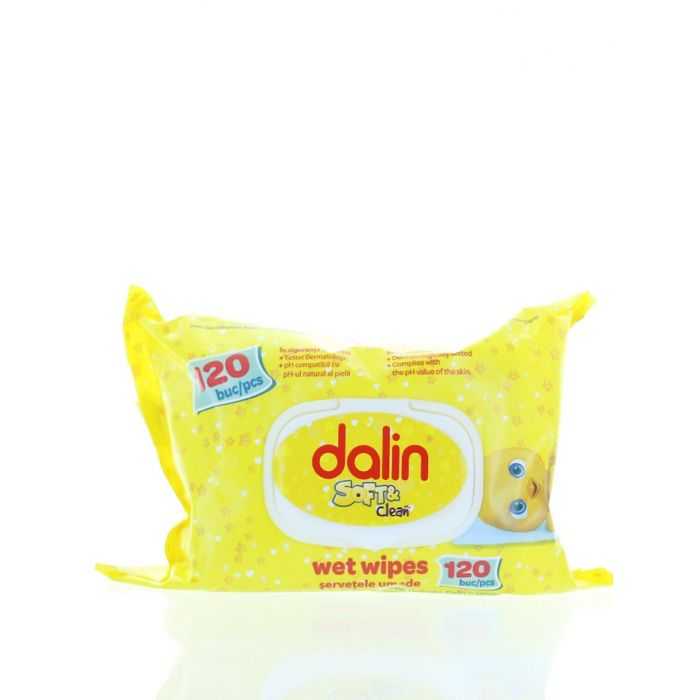 Dalin Servetele umede 120 buc Soft & Clean