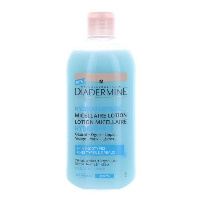 Diadermine Lotiune demachiant 400 ml Hydratante Blue Lotus