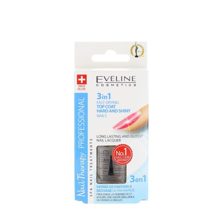 Eveline Tratament Unghii 12 ml 3in1 Hard & Shiny