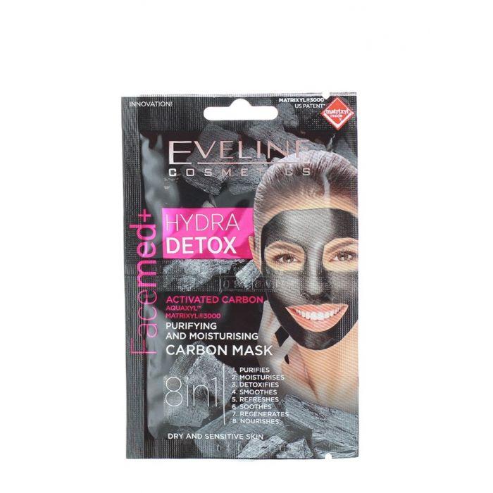 Eveline Masca de fata 2x5 ml 8in1 Hydra Detox