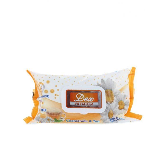 Dex servetele umede cu capac 100 buc Chamomile & Tea