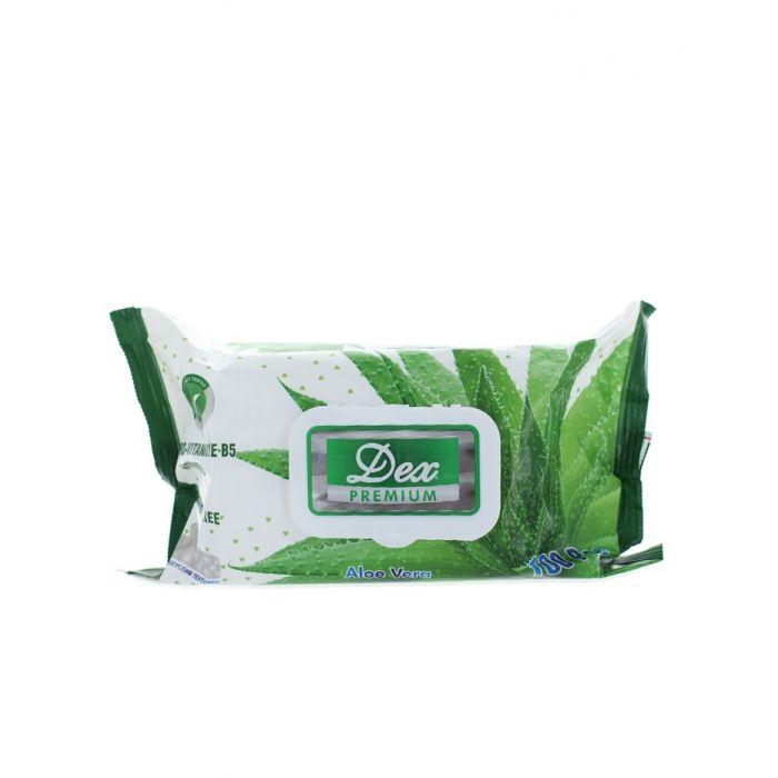 Dex servetele umede cu capac 100 buc Aloe Vera