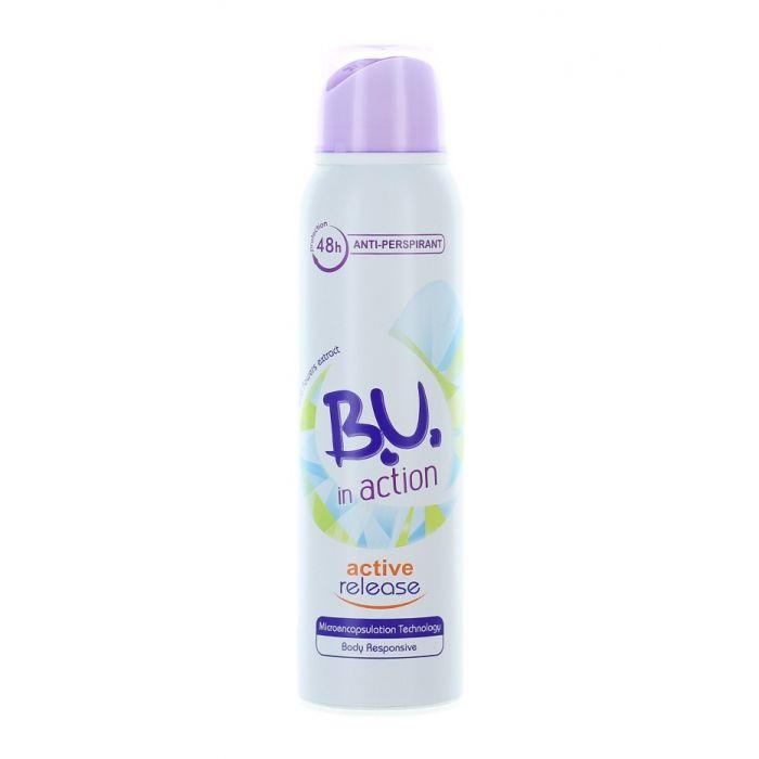 B.U. Spray Deodorant 150 ml Action Active Release