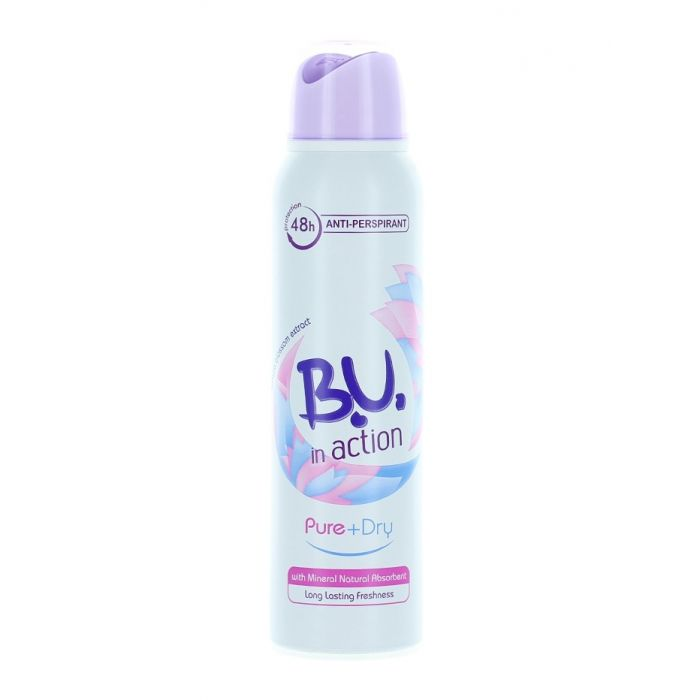 B.U. Spray Deodorant 150 ml Action Pure+Dry