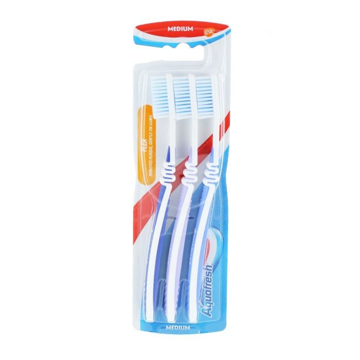 Aquafresh Periuta de dinti 3 buc Medium Flex
