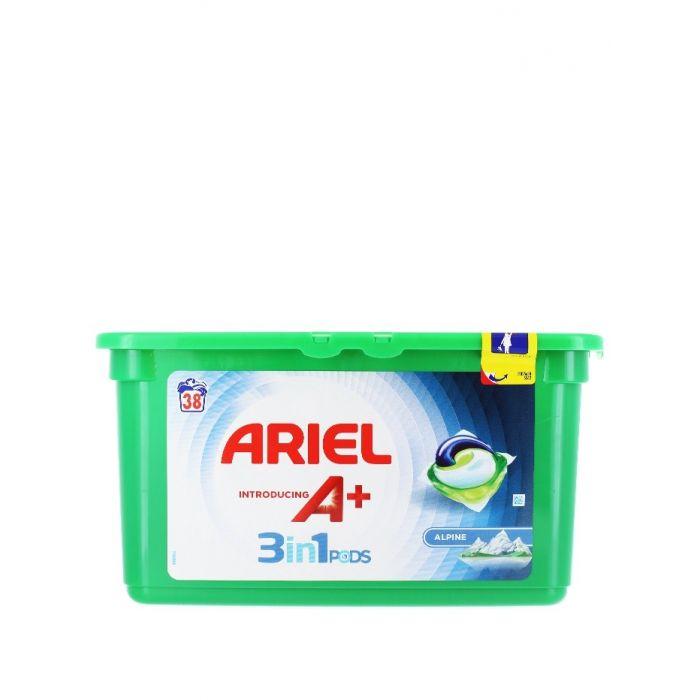 Ariel Detergent Capsule 3in1 38 buc Alpine