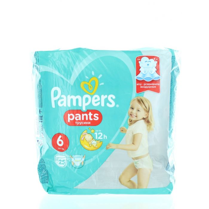 Pampers scutece chilotel nr. 6 Extra Large 15+ kg 25 buc