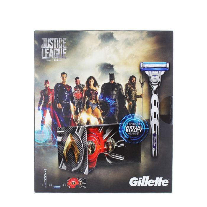 Gillette caseta:Aparat de ras cu cap+2 rezerve+Ochelari VR Mach 3