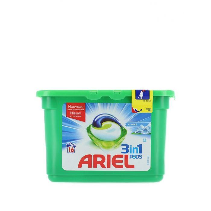Ariel Detergent Capsule 16 buc 3in1 Alpine