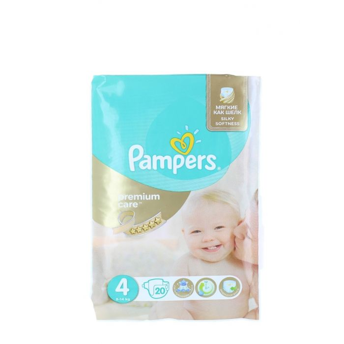 Pampers scutece nr. 4 8-14 kg 20 buc Premium Care