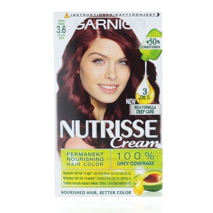 Garnier Vopsea de par Nutrisse Cream 3.6 Red Dark Brown