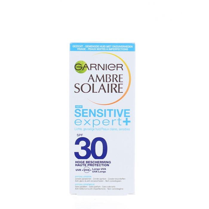 Garnier Ambre Solaire Protector solar de fata 50 ml Sensitive Expert Spf 30