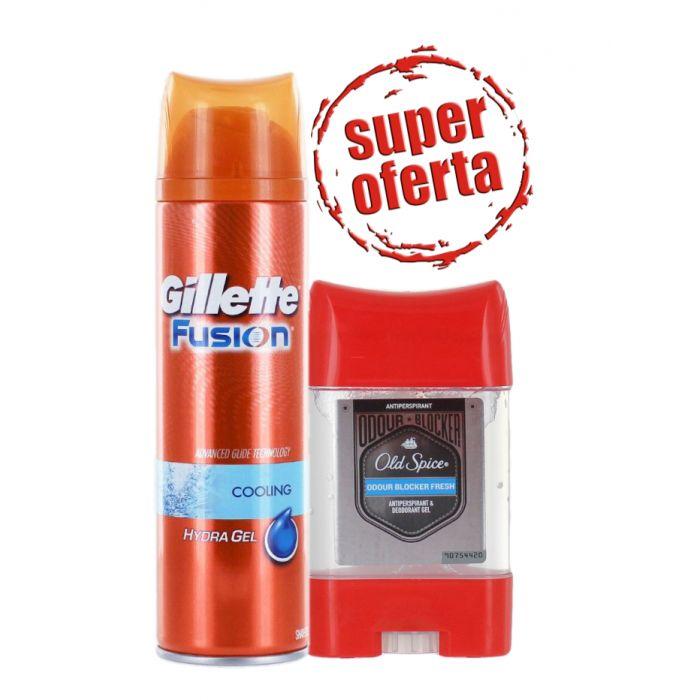 PROMO Gillette Gel de ras 200 ml Cooling+Old spice Gel stick Fresh