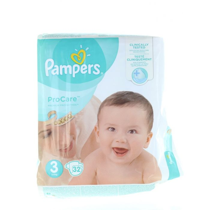 Pampers ProCare Scutece Nr.3 5-9 kg 32 buc Premium Protection