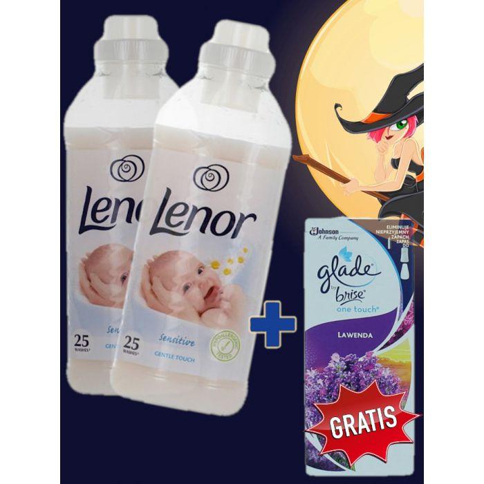 2x Lenor balsam 750 ml Sensitive+Glade rezerva 10 ml Lavender GRATIS