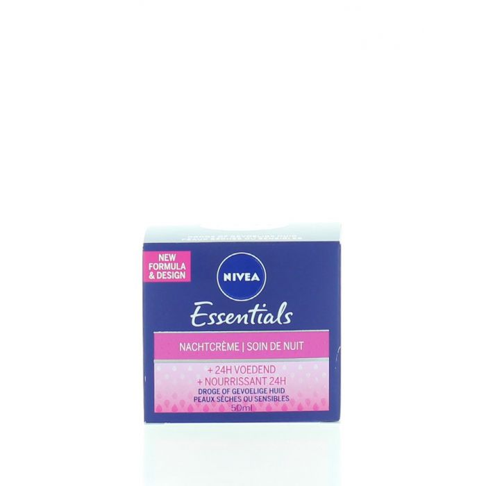 Nivea Crema de noapte 50 ml Essentials Nourrissant 24H
