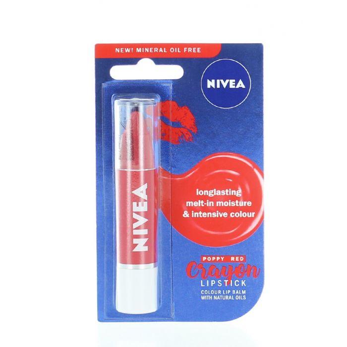 Nivea Creion de buze 3 g Poppy Red