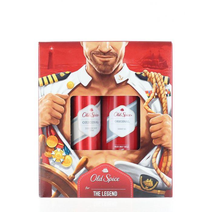 Old Spice Caseta:Spray deodorant+Gel de dus 150+250 ml Original