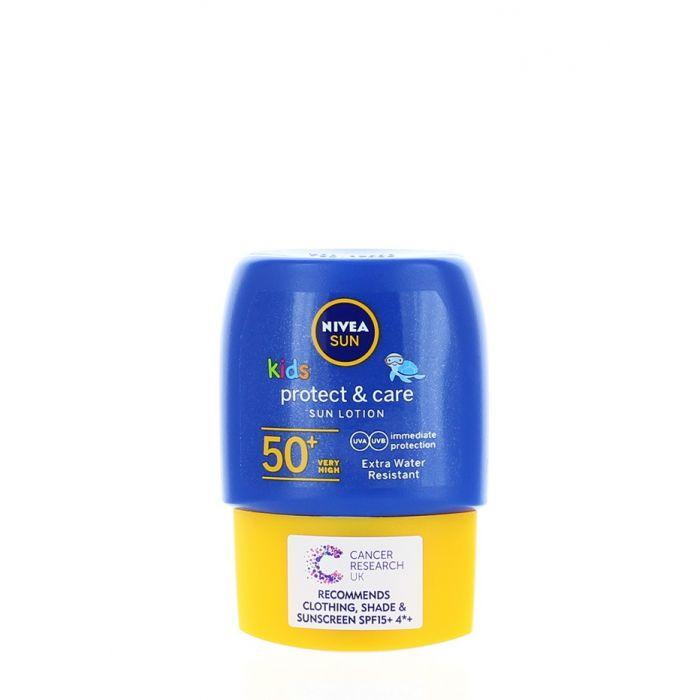 Nivea Sun Lotiune de protectie solara pentru copii 50 ml SPF 50 Protect & Care