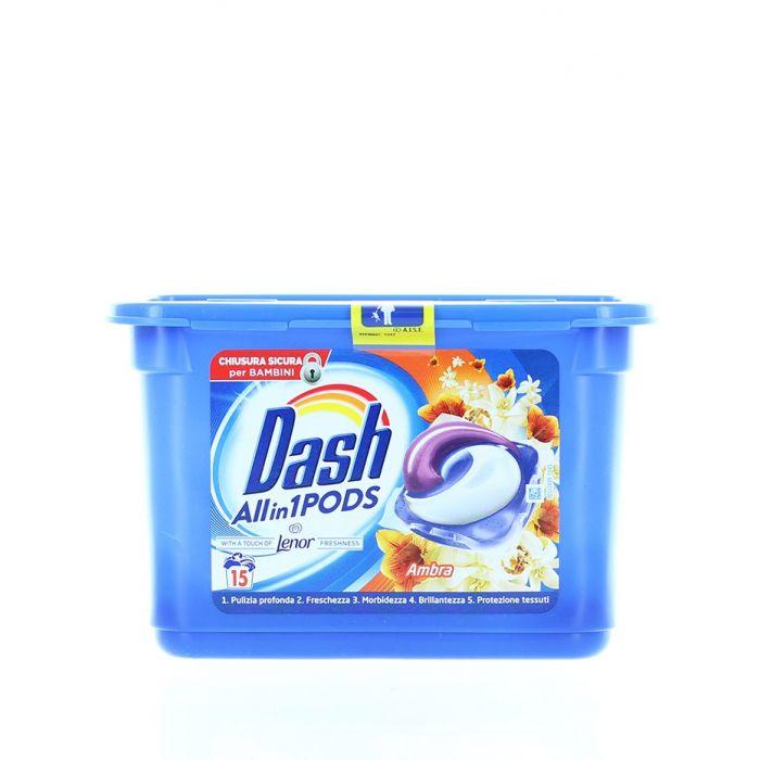 Dash Detergent Capsule 15 buc All in1 Ambra