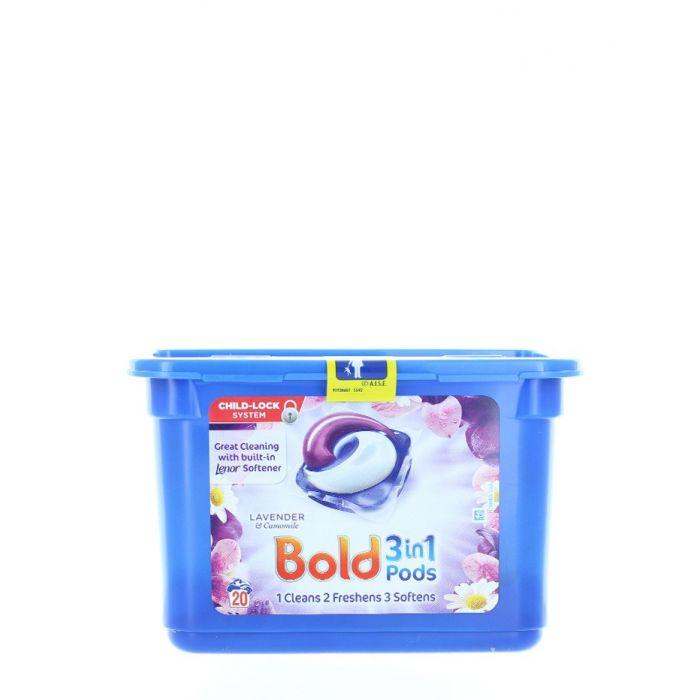 Bold Detergent Capsule 20 buc 3in1 Lavender&Camomile
