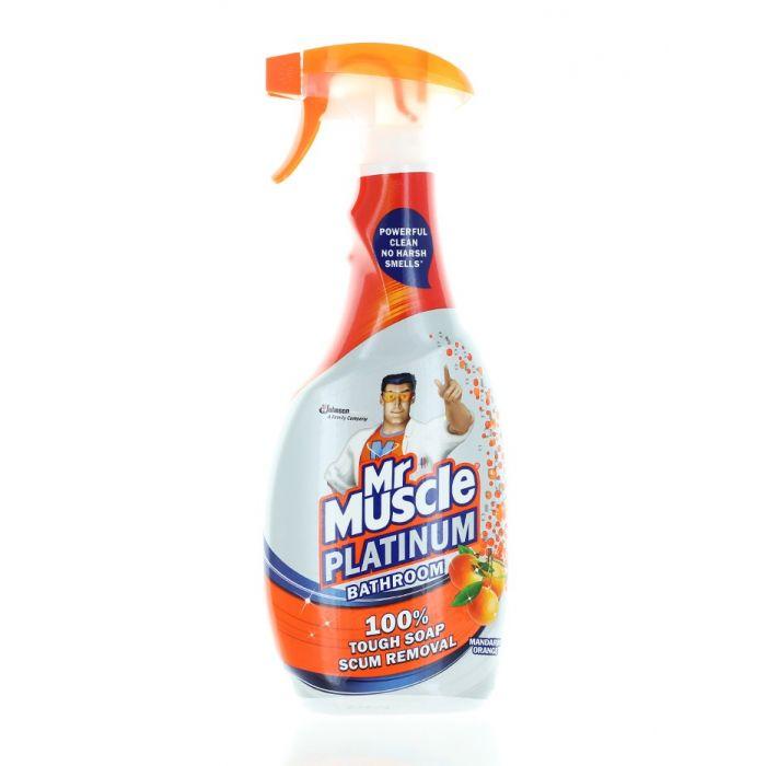 Mr. Muscle Solutie curatat suprafete baie cu pompa 750 ml Platinum Mandarin,Orange